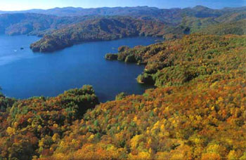 Lake Jocassee in the Fall